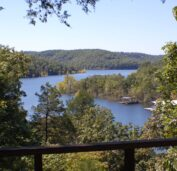 The lake view from one of the cabins located on the upper loop.